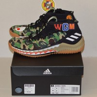 NEW Adidas x Bape Dame 4 Green Camo Size 7 DS 100% authentic