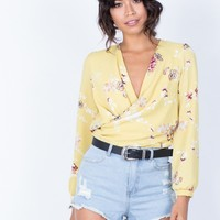 Golden Girl Floral Blouse