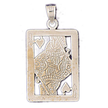 14K WHITE GOLD PLAYING CARD CHARM #11218