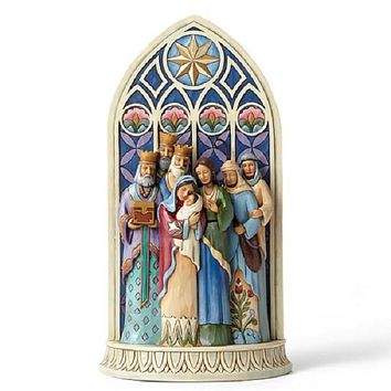 Jim Shore Holy Family Cathedral Window - 4049400