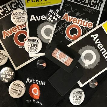 Avenue Q Button