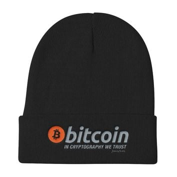 Beanie - Otto Cap - Bitcoin In Crypto We Trust Cryptography