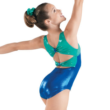 Metallic Bow Back Gymnastics Leotard - Balera