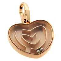 Cartier Heart Labyrinth Pendant Necklace in Rose Gold