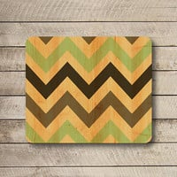 Color Vintage Chevron Geometric Mouse Pad Wooden MousePad Office Work Station Art Computer Accessorie Desk Deco Personalized Christmas Gift