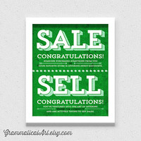 Sale vs. Sell Grammar Comparison Usage - English Rules Seller Etsy Gift - Geekery Teacher Gift - Sales Sells Green