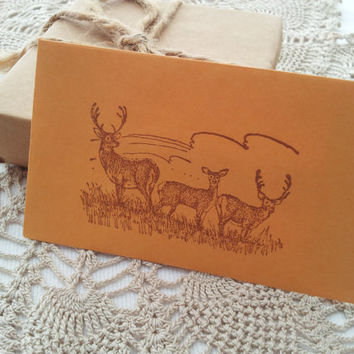 Deer Gift Card Holders Envelopes Set of 6