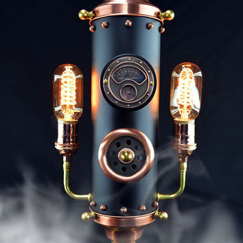 Steampunk Steam Whistle II - Table Light - Steampunk Lamp - Steampunk Light -