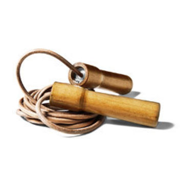 European-Made Leather Jump Rope
