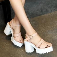 Unique Open Style Platform Sandals