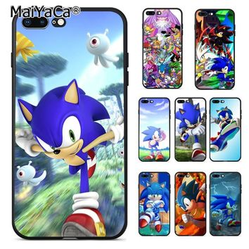 MaiYaCa Sonic the Hedgehog Unique Design The Fashion phone Case for Apple iPhone 7plus 8 6 6S Plus X 5 5S SE 5C case shell
