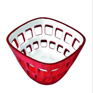 Guzzini Vintage Two-tone bread basket in Red