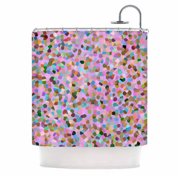 """Vasare Nar """"Candy Pink Confetti"""" Pastel Abstract Shower Curtain"""