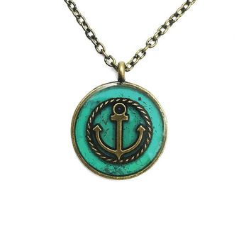 Anchor necklace / anchor jewerly / nautical jewelry / anchor pendant / sailor jewelry / brass jewelry / nautical necklace / ocean jewelry