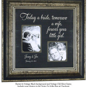 Mother of The Bride Gift, Parents Wedding Gift, best friends, Personalized Picture Frame, Reception, Father of the Bride, 16 X 16