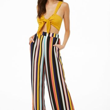 Multicolor Striped Palazzo Pants