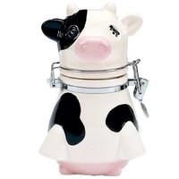 Boston Warehouse Udderly Cows Hinged Storage Jar