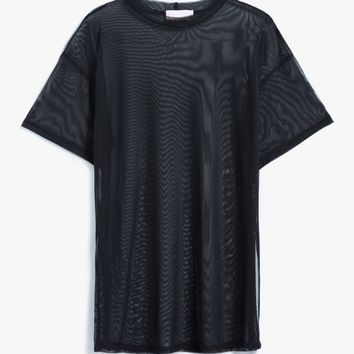 Farrow / Mesh Tee in Black