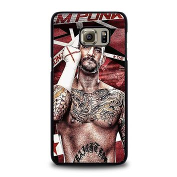 cm punk gloves samsung galaxy s6 edge plus case cover  number 1