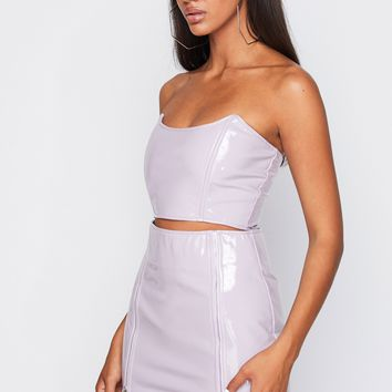 Killer Queen Latex Two Piece TOP ONLY Lavender