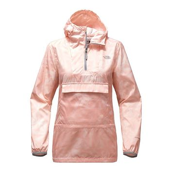 Women's Fanorak in Evening Sand Pink Lupine Print by The North Face