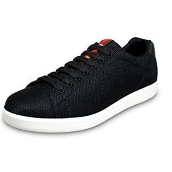 Prada Men's Nylon Mesh Sneaker, Black 4E2988