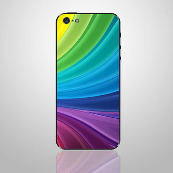 Colorful iphone back cover decal iphone 5 decals iphone 4s iphone 4 decal