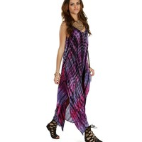 Sale- Purple Tie Dye Waves Maxi Dress