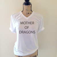Mother of Dragons Tank Top in Heather White - Womens Tank Tops - Inspired by Game of Thrones Khaleesi - Mother of Dragons