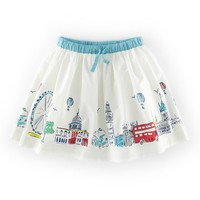 Toddler Girl's Mini Boden 'Scenic' Graphic Skirt
