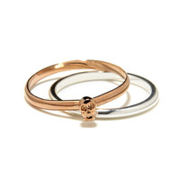 Bing Bang NYC - Rose Tiny Skull Ring Set