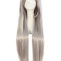 "MapofBeauty 32"" 80cm Long Straight Anime Costume Cosplay Wig Party Wig (Gray)"