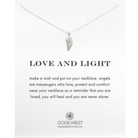 Dogeared Love & Light Angel Wing Necklace, 18"
