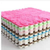 30CM Colorful Baby Mat Play Game Blanket EVA Foam With Plush Surface Soft Plush Carpet Puzzle Mat Soft Baby Play Mat