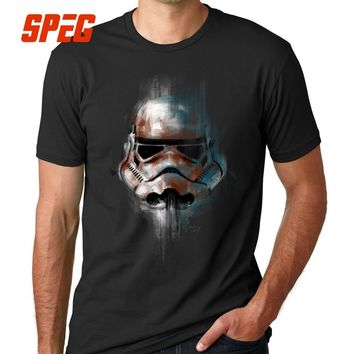 Star Wars Force Episode 1 2 3 4 5  T-Shirt Man  T Shirt Men Tops Imperial Stormtrooper Short Sleeve Cotton Luxury Brand Clothing Fitness Tees AT_72_6