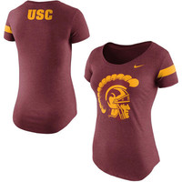 USC Trojans Nike Women's Enzyme Wash Team DNA T-Shirt - Cardinal