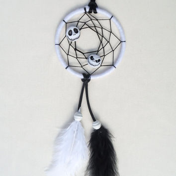 Disney Nightmare Before Christmas inspired Jack Skellington small dreamcatcher-bedroom decoration-wall hanging-gifts