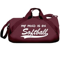 My mind is on softball: Creations Clothing Art
