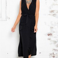 Heartbreak War Maxi Dress in Black
