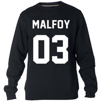 Draco Malfoy Harry Potter Sweatshirt Sweater Crewneck Men or Women Unisex Size