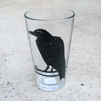 Crow Pint Glass