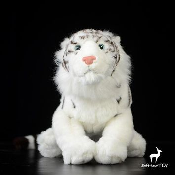 Large White Tiger Stuffed Animal Plush Toy 17""