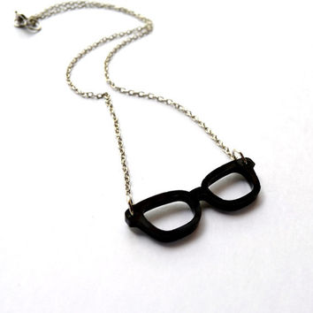 Nerd Glasses Necklace - Hipster Glasses - Librarian - Geek - Teens - Women - Gifts Under 25