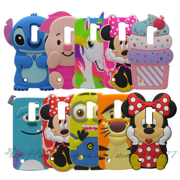 Phone Cases For LG Spirit 4G LTE H440N H420 C70 3D Cartoon Minnie Minion Sulley Pig Cat Tigger Darth Vader Silicone Back Cover
