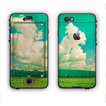 The Green Vintage Field Scene Apple iPhone 6 Plus LifeProof Nuud Case Skin Set