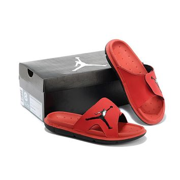 Nike Air Jordan Red Casual Sandals Slipper Shoes Size Us 7 13 | Best Deal Online