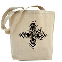 rose cross Tote Bag