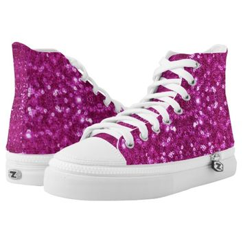 pink sequins shoes sneakers printed shoes