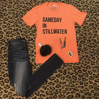 Women's Gameday in STILLWATER.-OSU t-shirt