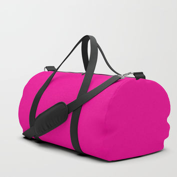 HOT Pink Duffle Bag by Knm Designs